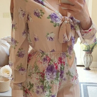 Flower Hour Romper - Light Pink