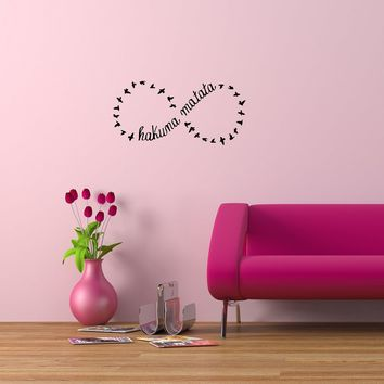 Wall Decals Quotes Hakuna Matata Bird Decor Kids Decal Vinyl Sticker Bedroom Living Room Home Art Mural OS250