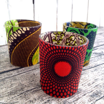 African Wedding décor, Votive candle, Party, African party x 3