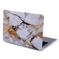 "HDE MacBook Pro 13"" Retina Case Hard Shell Cover Designer Pattern For Mac 13.3"" (no CD drive) - Fits Model A1425 / A1502 (White Marble)"