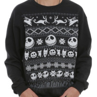 The Nightmare Before Christmas Fair Isle Crewneck Pullover 3XL