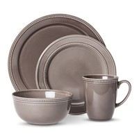 Threshold™ Camden Traditional Round 16 Piece Dinnerware Set – Grey