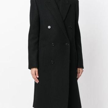 ESBONJF Saint Laurent Double Breasted Coat - Farfetch