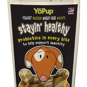 YoPup Stayin' Healthy Probiotic Biscuits, 7 oz Bag