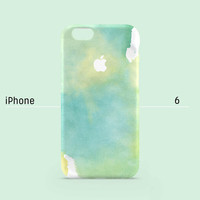 iPhone 6 case - Aquamarine Water Color Texture - iPhone 6 case, iPhone 6 Plus case, iPhone 5s case, iPhone 5 case, iPhone 4s case non-glossy