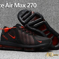 Nike Air Max 270 Black/Red Cushion Shoes