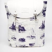 Jack Wills Brentwood Canvas/Leather Backpack