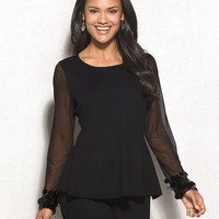 MiXT by Heidi Weisel™ Peplum Sweater