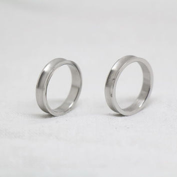 2pcs-silvers alloy promise rings,Simple Ring,promise rings,couple rings,wedding bands,Free Engraving