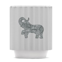 "Belinda Gillies ""Elephant"" Shower Curtain"