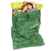 2.15m*1.45m Outdoor Double Sleeping Bag Envelope Style Spring and Autumn Camping Hiking Portable Sleeping Bag with Pillow