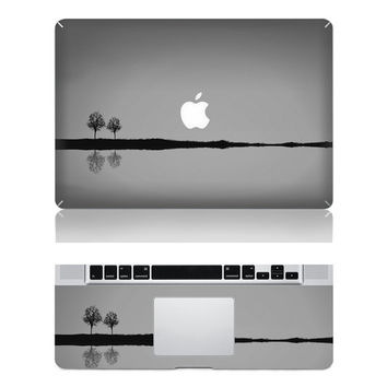 Lake and Trees under the Moonlight -- Macbook  Decal Mac Full-cover Decal Laptop Art  Skin Sticker Cover for Apple Macbook Pro / Air/ iPad2