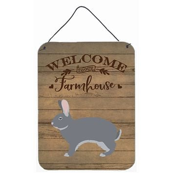 Giant Chinchilla Rabbit Welcome Wall or Door Hanging Prints CK6910DS1216