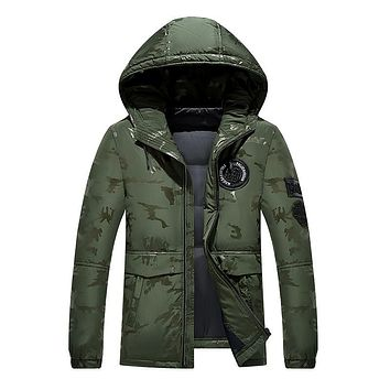 Hot Casual White Down Jacket Men 2017 New Winter Warm Hooded Waterproof Man's Coat Parka Style High Quality Plus Size M-4XL