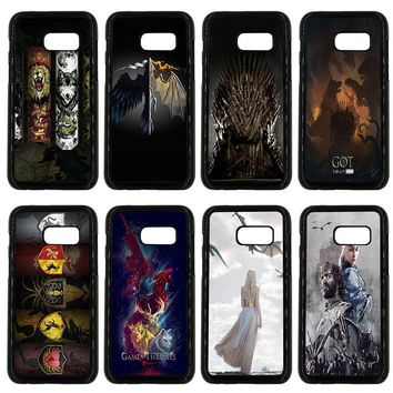 Games Thrones Wolf Mobile Phone Case Hard PC Plastic Cover for Samsung Galaxy A3 A5 A7 A8 2015 2016 2017 2018 Note 8 7 5 3 Shell