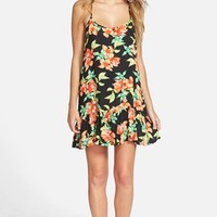 Junior Women's Rip Curl 'Song Bird' Floral Print Cover-Up,