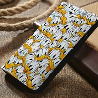 Donald Duck Collage Disney Custom Wallet iPhone 4/4s 5 5s 5c 6 6plus 7 and Samsung Galaxy s3 s4 s5 s6 s7 case