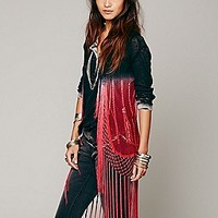Sweet Sinammon  Ombre Fringe Vest at Free People Clothing Boutique