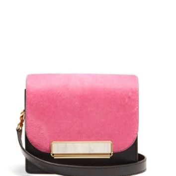 Satchel mini calf-hair and leather shoulder bag | Hillier Bartley | MATCHESFASHION.COM US