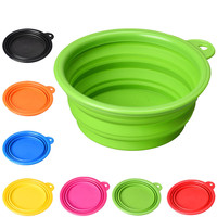 Hoot Silicone Collapsible Dog Cat Feeding Bowl Dog Water Dish Cat Portable Feeder Puppy Pet Travel Bowls Vovotrade