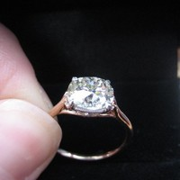 It's Here! It's Here! My 2.30 ct OMB Antique Cushion Upgrade : Show Me the Bling! (Rings,Earrings,Jewelry) â?¢ Diamond Jewelry Forum - Compare Diamond Prices, Discussions & Diamond Information