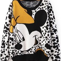 Yellow Cartoon Print Pullover