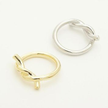 Thick Tie Rope Ring / tie ring, knot ring, love knot ring, infinity ring, thick twist ring / R166