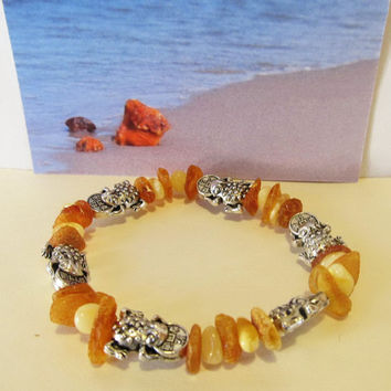 Natural Baltic #Amber Good #Luck #Money #Frog 6 #amulet talisman mascot #souvenir coin  figure bead #gift present lucky penny #Toad bracele