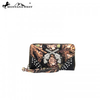 Western Camo Collection Wallet In Black