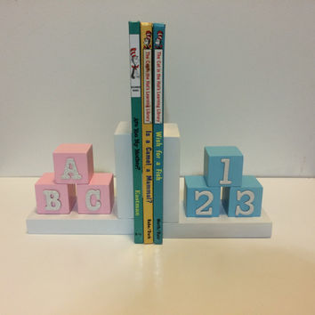 Custom Bookends, Nursery/Kids Bookends, Easter Basket Gift, Nursery Decor, Name Bookends, Room Decor, Room Accent, Baby Shower, Gift,