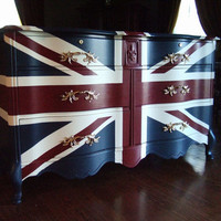 "Variety of French Provincial ""Waving"" Union Jack Dressers / Buffets"