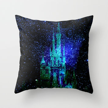 Dream castle. Fantasy Disney Throw Pillow by Guido Montañés