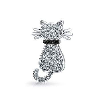 Bling Jewelry Cats Meow Brooch