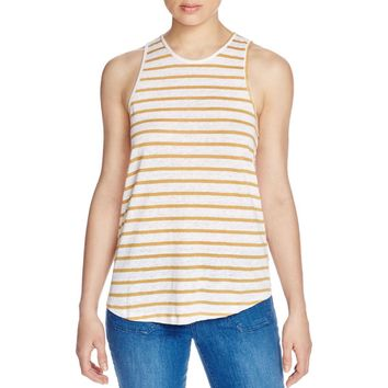Sanctuary Womens Patio Linen Striped Tank Top