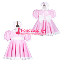 Sissy maid pvc dress lockable Uniform cosplay costume Tailor-made[G3763] [G3763] - $110.42 : Fond Cosplay