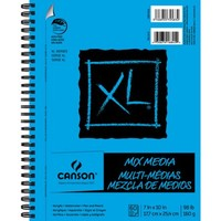 "Canson XL Mix Media 7"" x 10"" 60-Sheet Side Wire Bound Paper Pad - Walmart.com"