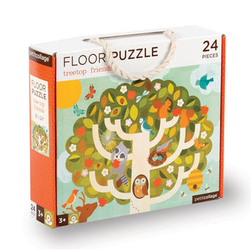 Petit Collage Treetop Friends  Floor Puzzle