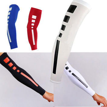 Hot Sale Men Sports Basketball Shooting Cycling Compression Arm Sleeve Elbow Protector Pad Pads Support Brace Arm Warmers