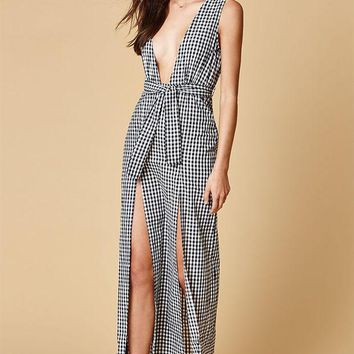 ESBONDI5 LIONESS Plunging Maxi Dress