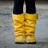 Made to Order Custom Soft Leather Winter Mukluks by spirocreations