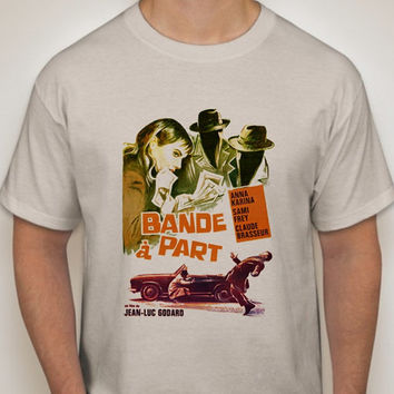 Band Of Outsiders : Bande à part French New Wave Film T Shirt - Retro Movie Apparel Fashion Graphic Tee Men & Women
