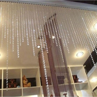 32.8FT Acrylic Clear Crystal Bead Garland Diamond DoorCurtain Wedding Decoration = 1932773124