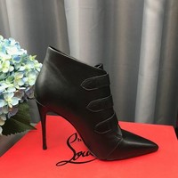 Christian Louboutin Cl So Kate Booty Black Ankle Boots