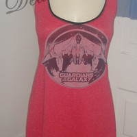 Guardians of the Galaxy Marvel Comics Vintage upcycled Altered re purposed sexy diy halter top shirt dress tunic choose size