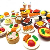 20 of Assorted IWAKO Japanese Puzzle Eraser - Restaurant Food Collection (20 will be randomly selected from images)