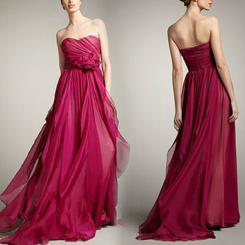 Bridesmaid Dress / Romantic / dresses / Dreamy / Bridesmaid / Party / wedding / Bride / Plum