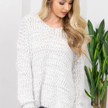 Candice Fuzzy Knit Sweater
