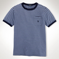 STRIPED COTTON RINGER TEE