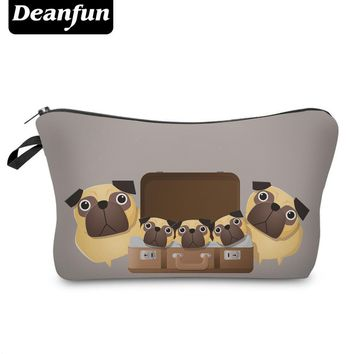 Day-First™ Deanfun 3D Printed Cartoon Pug Cute Cosmetic Bags Women Toiletry Organizer for Travelling with Zipper 50888