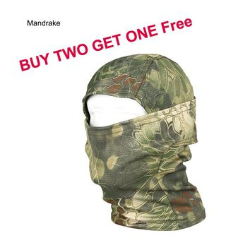 Ghillie Suits Army Military Gear Paintball full face mask tactical air soft mask cycling face mask free shipping GZ290051